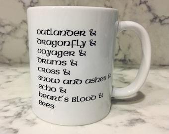 Outlander Book List Coffee Mug