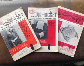 Vintage 1950's 'the Workbasket' magazines