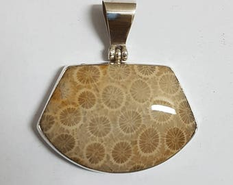 Fossil Coral Pendant #15