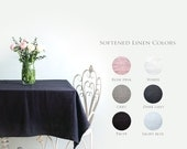 Grey Linen Tablecloth for Dining Table - Many colours and sizes