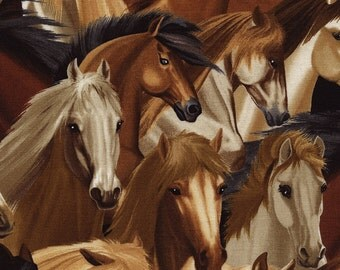 Horses Fabric  / Timeless Treasures c4562 Horses by the yard / Yardage and Fat Quarters