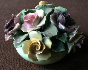 Denton China Flowers,England Bouquet,English Ceramic Bouquet,As Is Flower Sculpture,Antique Flower Decor,Flower Knick Knack,Pastel Flowers
