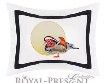 Machine Embroidery Design Mandarin duck - 3 sizes