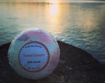 Sunset Dream Bath Bomb - Bath Fizzies -Bath Time
