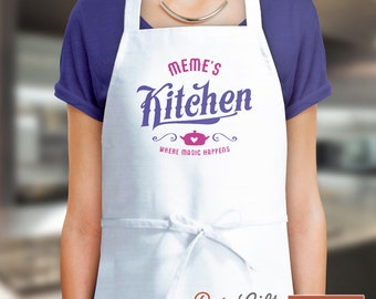 Meme Gift, Birthday Gift For Meme! Funny Apron, Meme's Kitchen Magic, Cooking Gift, Awesome Meme, Personalized, Alternative Meme Shirt