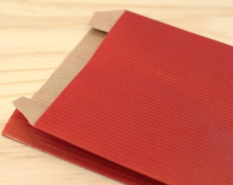25 cover kraft 12 x 19 cm red, Pack gifts