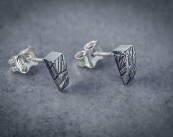 Oxidised siver studs/ delicate look/sterling silver/minimalist earrings