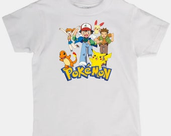 Childs tee shirt new cotton featuring Pokemon on kids t shirt