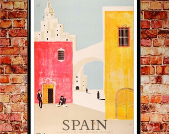 Spanish Poster Spain Travel Vintage Tourism Print Spanish Print Spanish Poster Madrid Poster Madrid Print Spain Travel Spanish Art Print