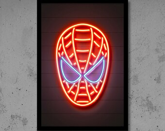 Superhero Neon Wall Lights : Deadpool Wall Art Deadpool Nursery Deadpool Neon Superhero