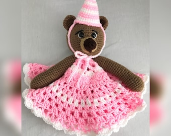 Happy Birthday Teddy Bear Lovey Blanket