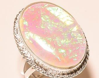 Australian Triplet Opal Gemstone .925 Sterling Silver Jewelry Ring No.9