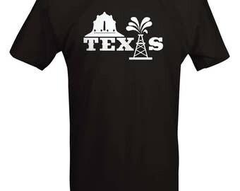 Texas - Not Texas Oilfield Austin Dallas Oil Longhorn Orange UT Funny T shirt - B233