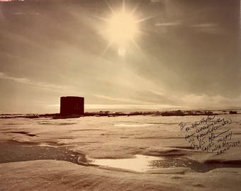 "vintage photo of submarine ""Queenfish"" at the North Pole in 1970...FREE SHIPPING!"