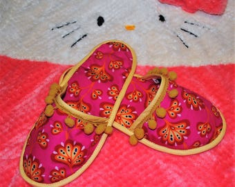 Fabric slippers, Slippers, Shoes, Women's Shoes, House slippers, womens shoes, Traditional Portuguese house slippers, Women's Slippers