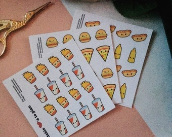 Sample stickers | Kawaii fastfood