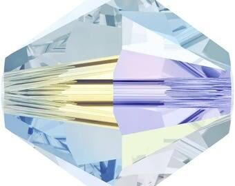 Swarovski Crystal Bicone Beads 5328 - 3mm 4mm 6mm 8mm - Light Azore AB 2X