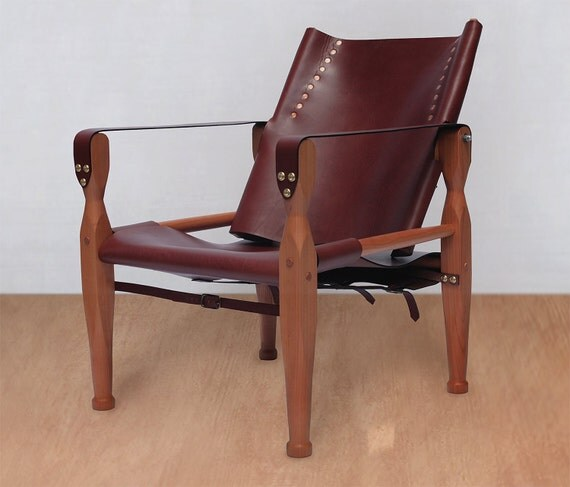 Safari Chair Leather Chair Lounge Chair Accent Chair
