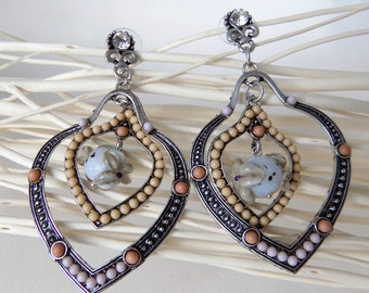 """pair of earrings, """"Belle"""""""