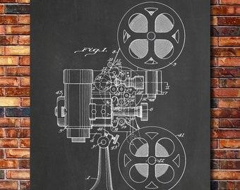 Film Projector Patent Print Art 1936