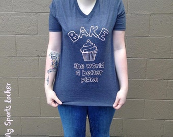 Bake the World a Better Place Triblend Tee