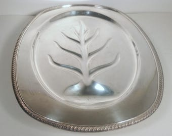 Large Vintage Kenton Rogers 1710 Silver Plated Tray