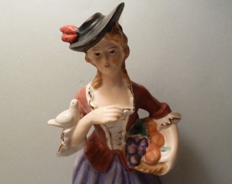 Vintage Victorian Woman Figurine