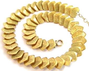 Vintage Great Signed Oro Enchapado 10K Rolled Gold Plated Necklace*42G*925*D941