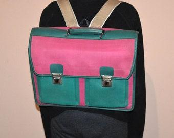 Vintage backpack - School bag - Student bag - Laptop bag - Reflective bag - Messenger bag - Shoulder bag - Satchel handbag - Old school bag