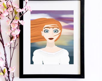 Anne of Green Gables Portrait | A Bookworm Gift for Her Anne of Green Gables Loving Friend