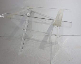 Mid-Century Modern Lucite Folding Luggage Rack/Stand.