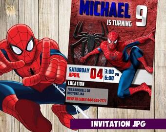 Spiderman Invitation, Spiderman  Party, Spiderman Birthday Invitation, Spiderman  Invitation, Spiderman  Avenger printable