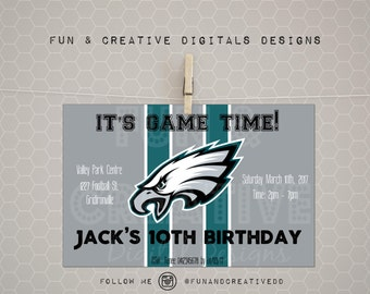 Philly Eagles Inspired Invitation