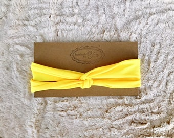 Yellow turban headband