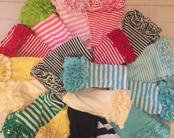 Toddler girls ruffled Icing shorts, girls mint/navy ruffled Icing style shorts, toddler ruffled bottom shorts