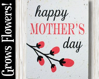 "GROWS WILDFLOWERS! - ""Happy Mother's Day"" - Plant the Card - 100% recycled - #MD004"