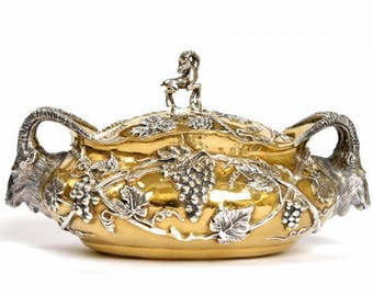"Silver Jewelry box ""Ibex"""