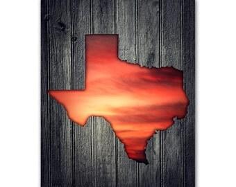 Texas map poster, texas map print, personalized gift, texas state map, texas wall art, texas sunrise, texas wedding gift, anniversary decor