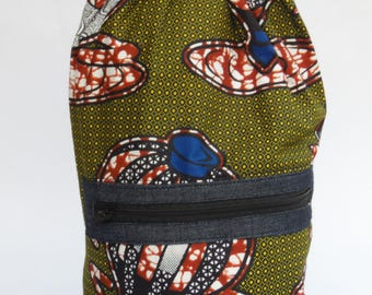 single strap african print backpack