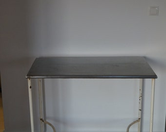 Metal Console Table 1960' with painted legs- original paint