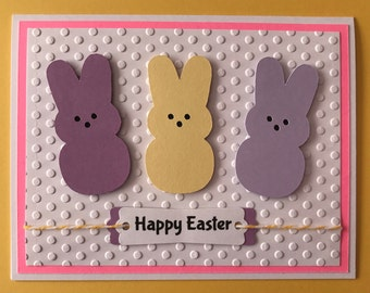 "Handmade Easter ""Peeps"" card, Easter, Candy, Peeps, Happy Easter"