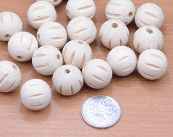 10pcs 20mm round facted wooden bead with grain,natural round jewelry wood beads finding,small unfinished wood bead supply,wood accessories