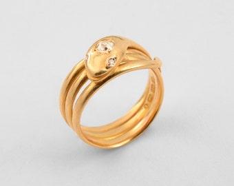 18K Snake ring