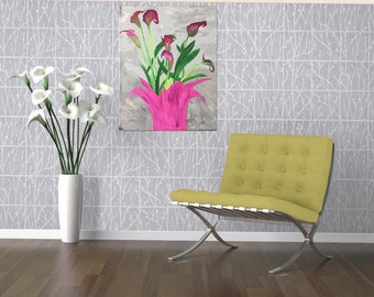 Lilies Painting - Flower Art - Acrylic Painting - Original Art - Floral Painting - Lily Painting - Flower Painting - Calla Lilies Painting