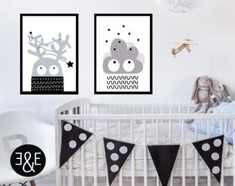 Scandinavian nursery, kids room decor, Kids wall art, Childrens art, nursery decor, nursery wall art, scandinavian art, kids poster