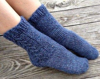 Hand Knit socks Wool knit socks Knitted socks Knit wool socks Winter knit socks Knit cable socks Bed socks Valentines gift for women for her