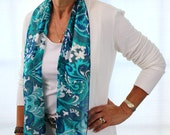 Turquoise Pucci Pencil Scarf