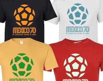mexico 70 86 football world cup soccer retro vintage brazil argentina pele maradona mascot t shirt