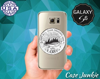 Not All Who Wander Are Lost Quote J.R.R Tolkien Quote Case for Clear Rubber Samsung Galaxy S6 and Galaxy S6 Edge Galaxy S7 and S7 Edge