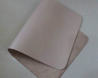"""Leather Scrap, Genuine Leather, Leather Pieces, Light Brown, Size 7.75"""" by 15""""  Leather Scrap for DIY Projects."""